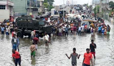 Half a million people flee a drowning Colombo!