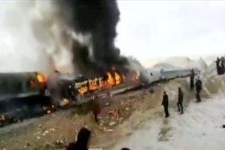 Iran train crash, over 31 dead
