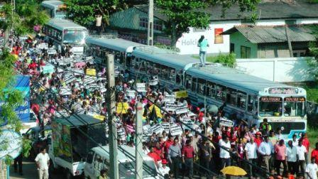 Sri Lankans protest Chinese Investment