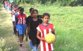 Bihar Teenage girls  Dare to Shine at village football